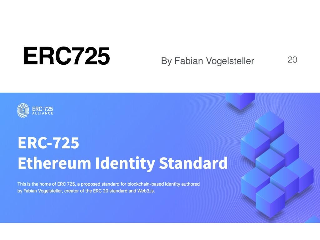 ERC725 20 By Fabian Vogelsteller