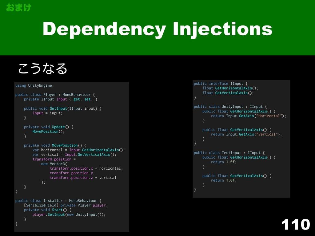 110 Dependency Injections using UnityEngine; pu...
