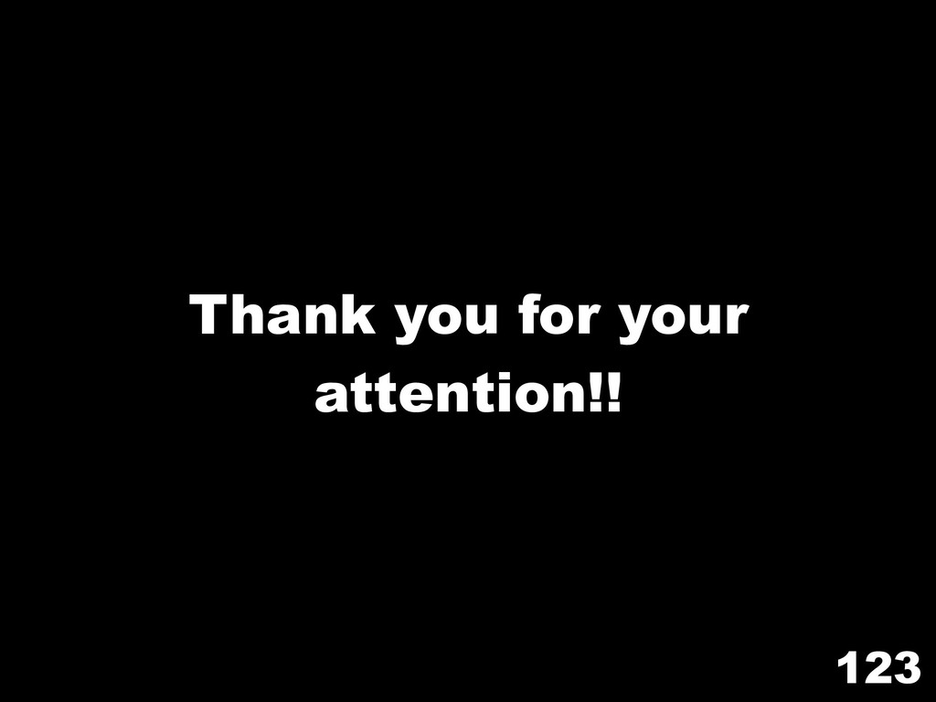 123 Thank you for your attention!!
