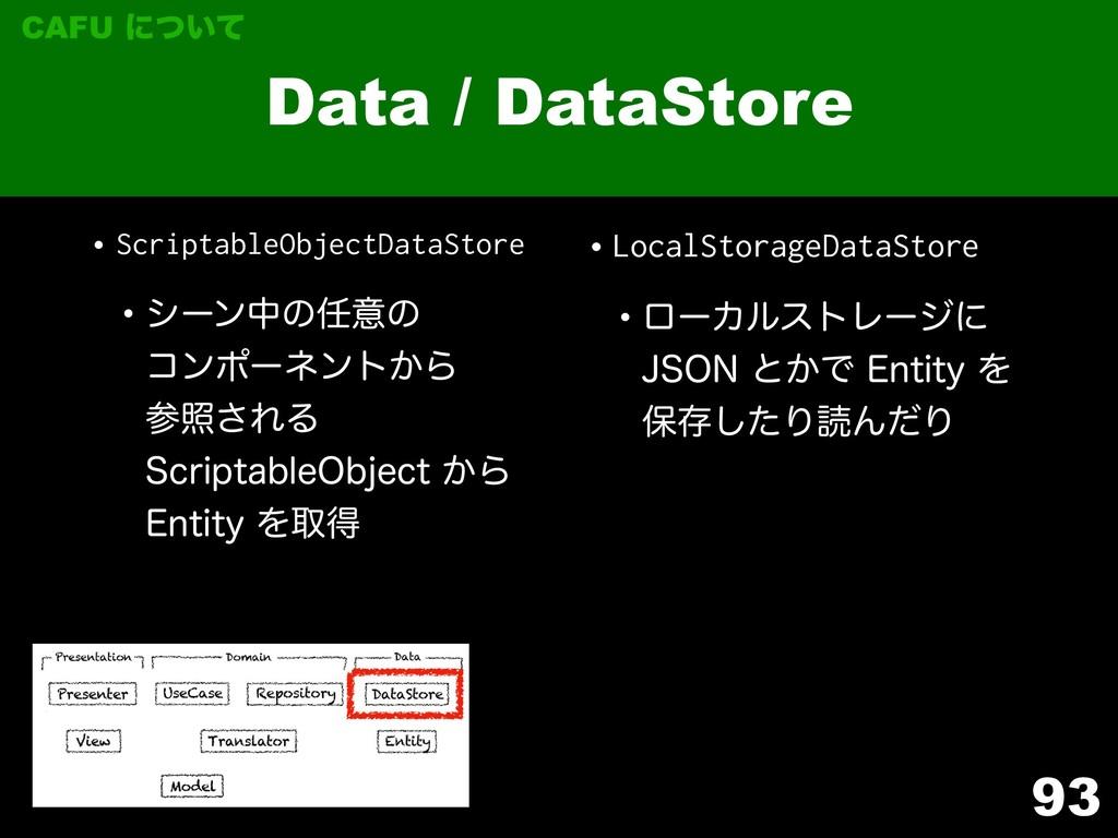 •ScriptableObjectDataStore wγʔϯதͷҙͷ ίϯϙʔωϯτ͔Β...