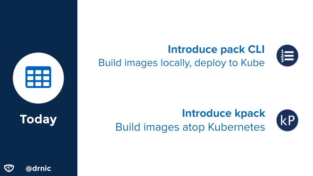 @d @drnic Today Introduce kpack Build images at...