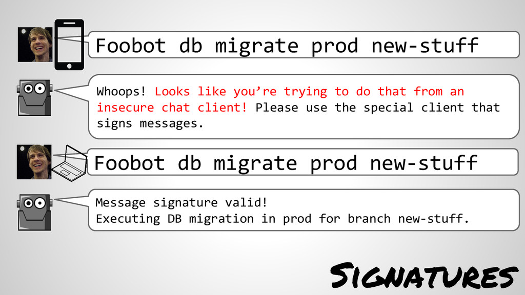 Foobot db migrate prod new-stuff Whoops! Looks ...