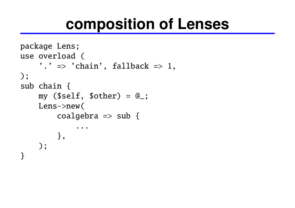 composition of Lenses package Lens; use overloa...