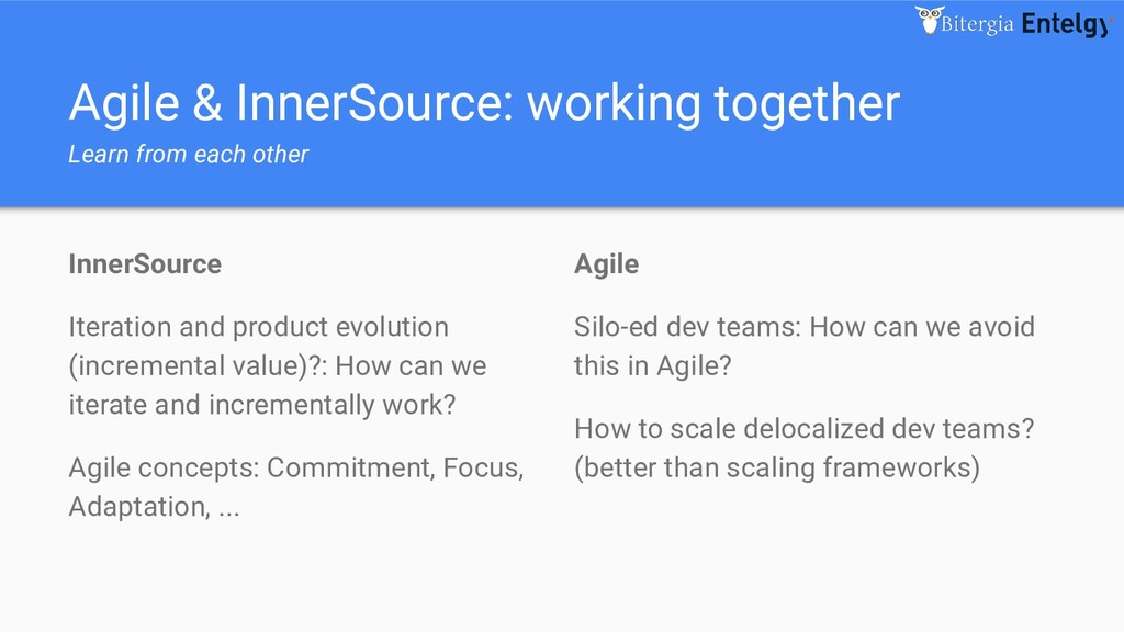 Agile & InnerSource: working together Learn fro...