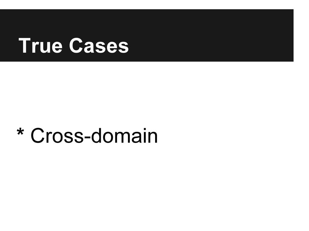 True Cases * Cross-domain