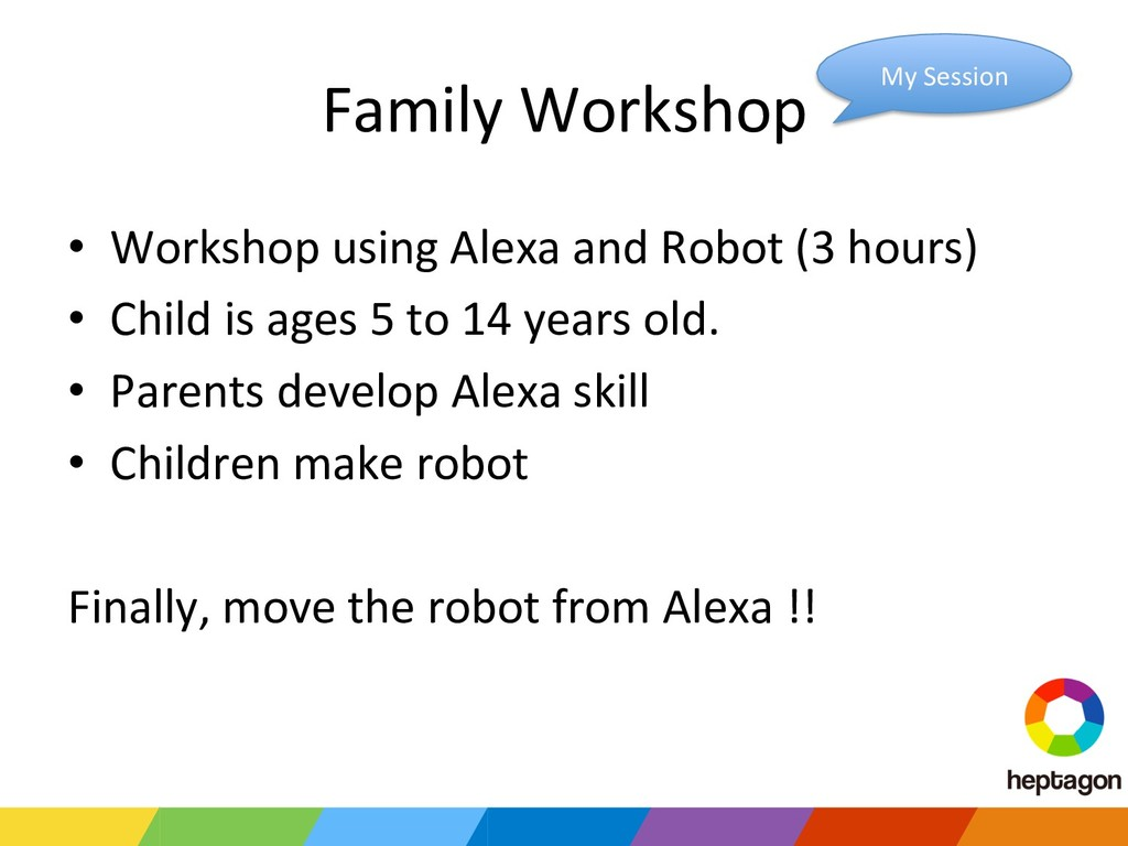 Family Workshop • Workshop using Alexa and Rob...
