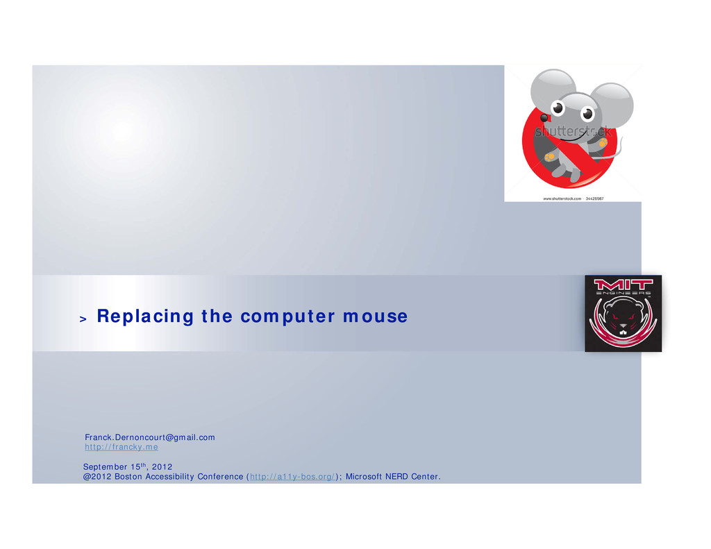 > Replacing the computer mouse September 15th, ...