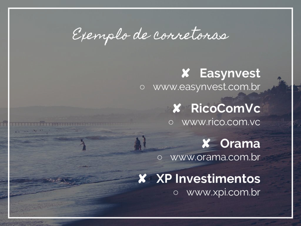 Exemplo de corretoras ✘ Easynvest ○ www.easynve...