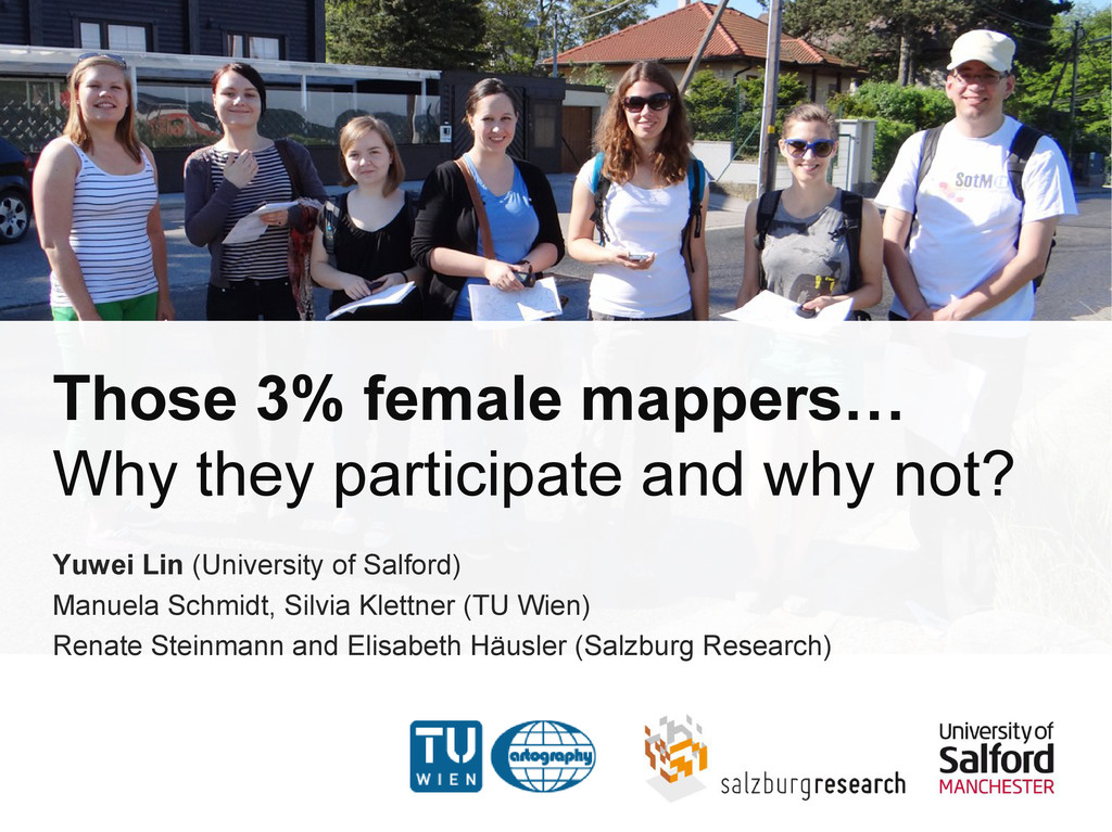 Those 3% female mappers… Why they participate a...