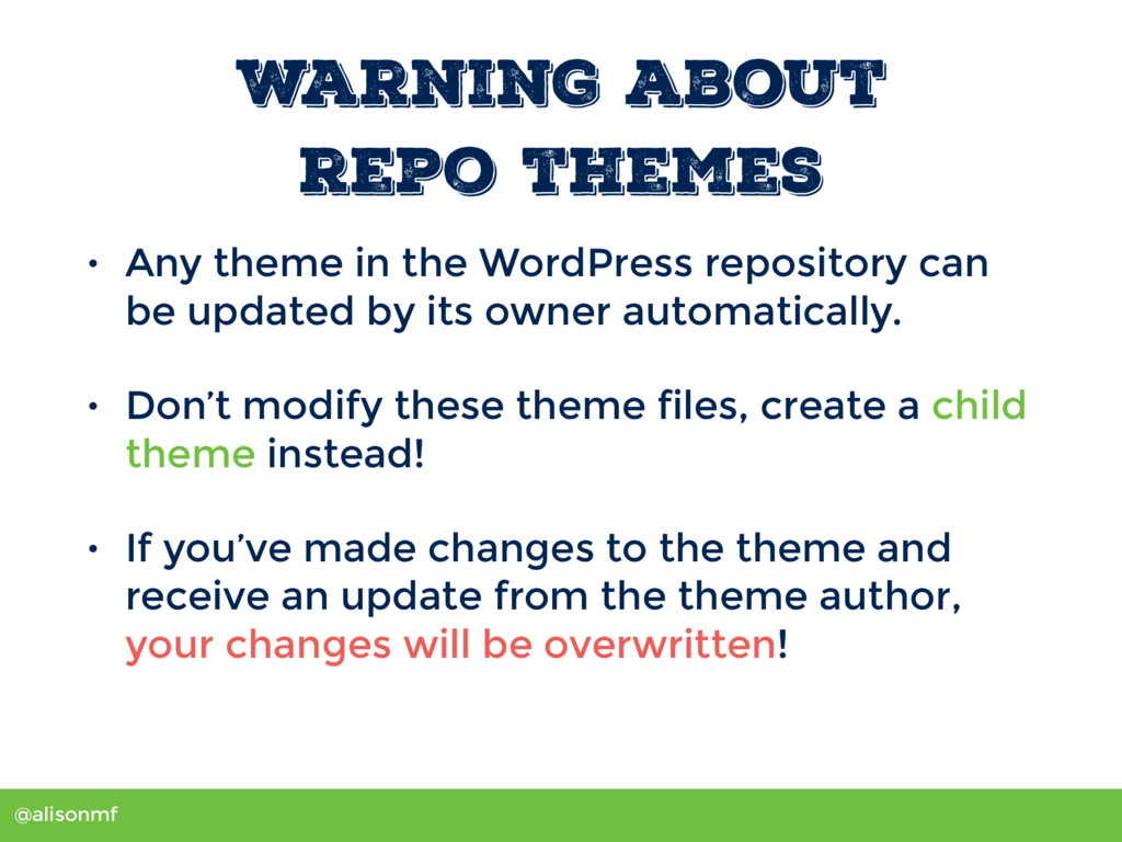 @alisonmf Warning about