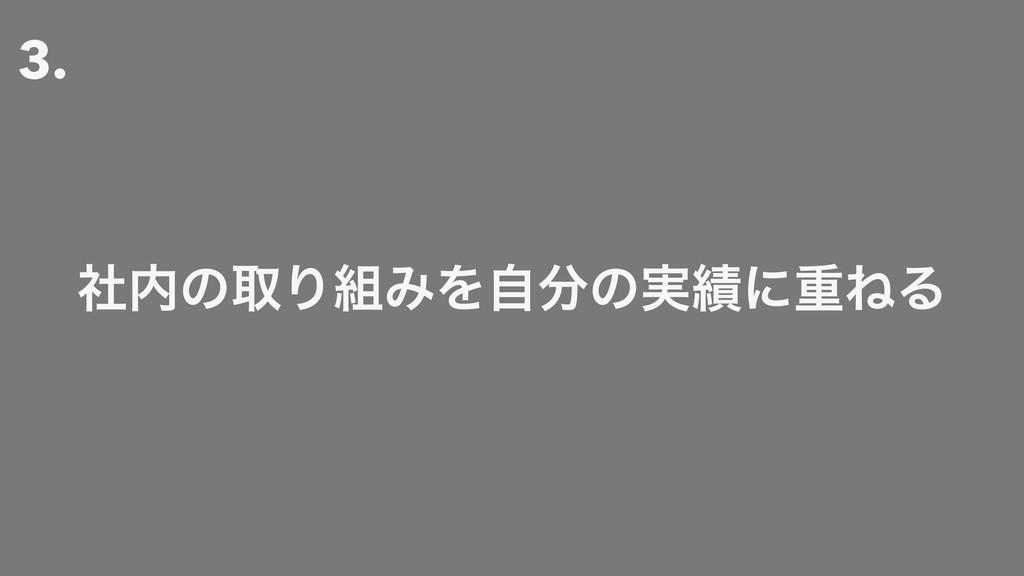 3. ࣾͷऔΓΈΛࣗͷ࣮ʹॏͶΔ