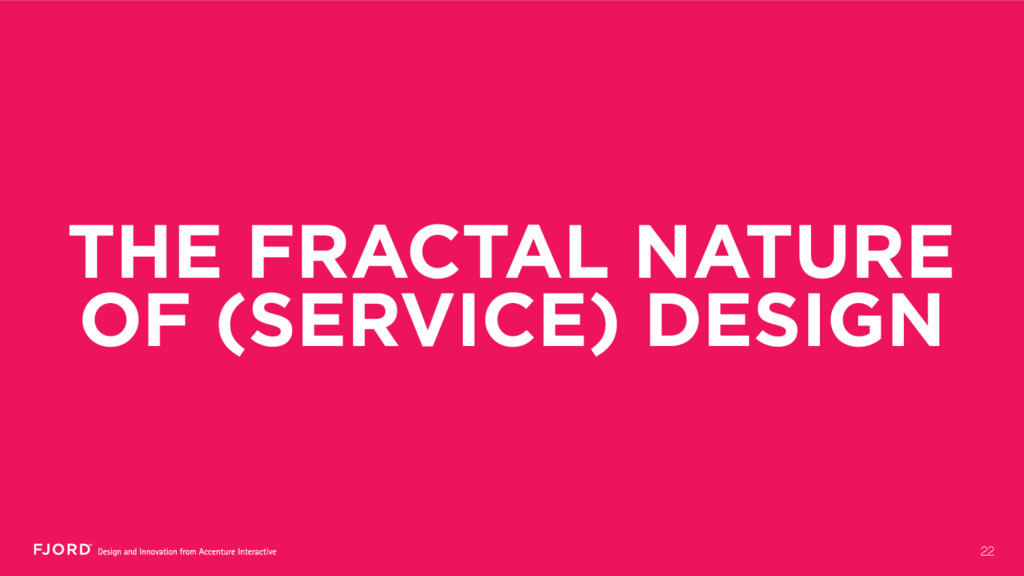 THE FRACTAL NATURE OF (SERVICE) DESIGN 22