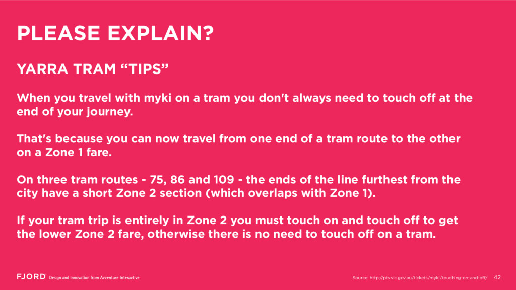 "PLEASE EXPLAIN? 42 YARRA TRAM ""TIPS"" When you t..."