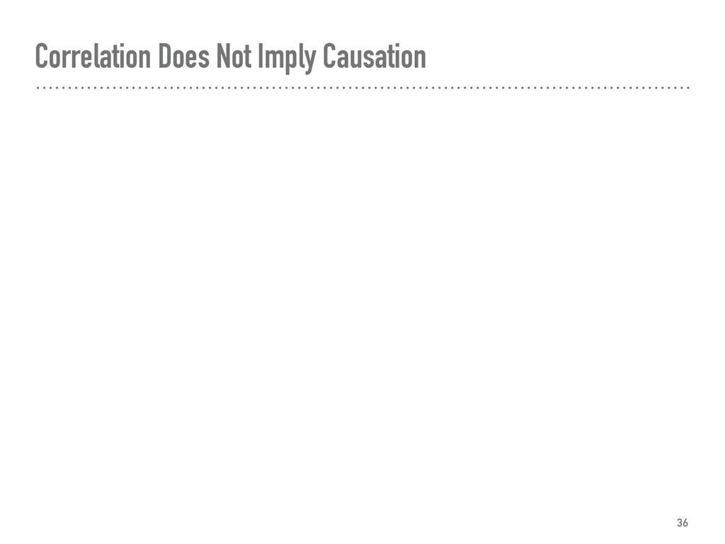 Correlation Does Not Imply Causation 36