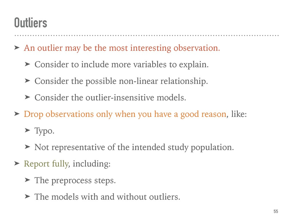 Outliers ➤ An outlier may be the most interesti...