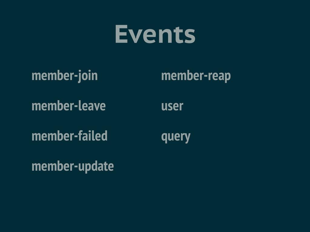 Events member-join member-leave member-failed m...