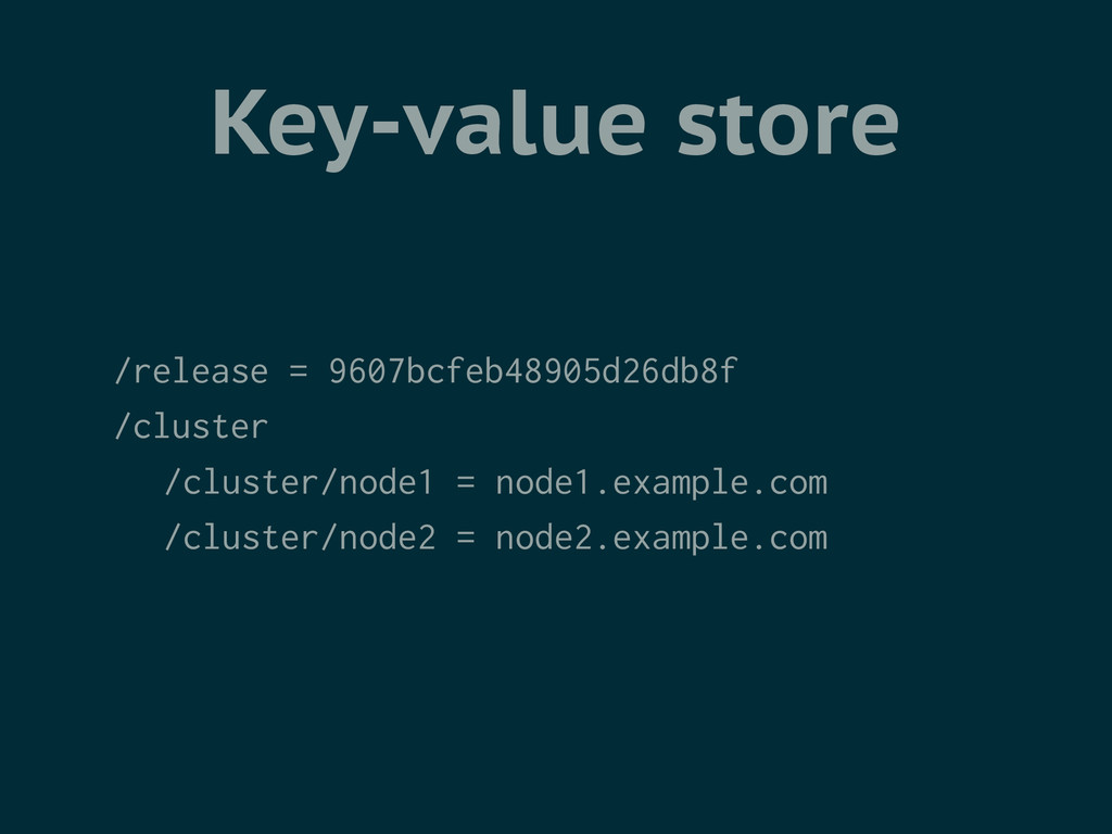 Key-value store /release = 9607bcfeb48905d26db8...