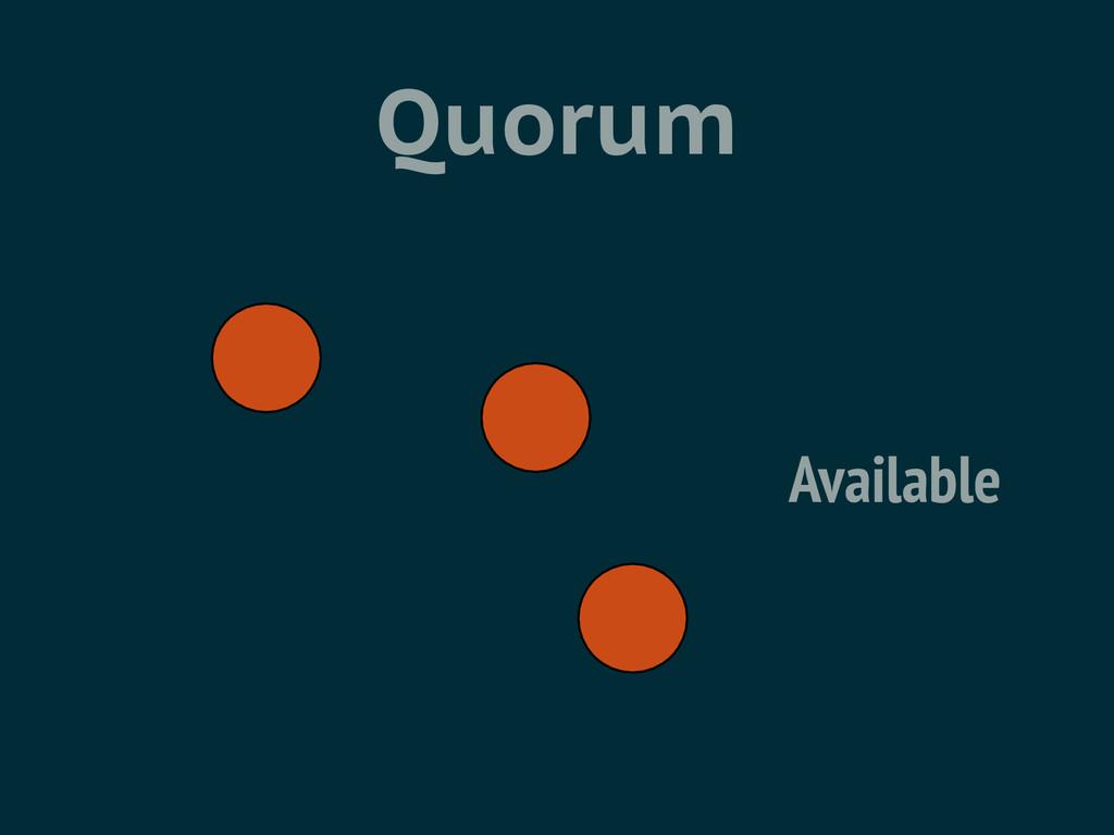 Quorum Available