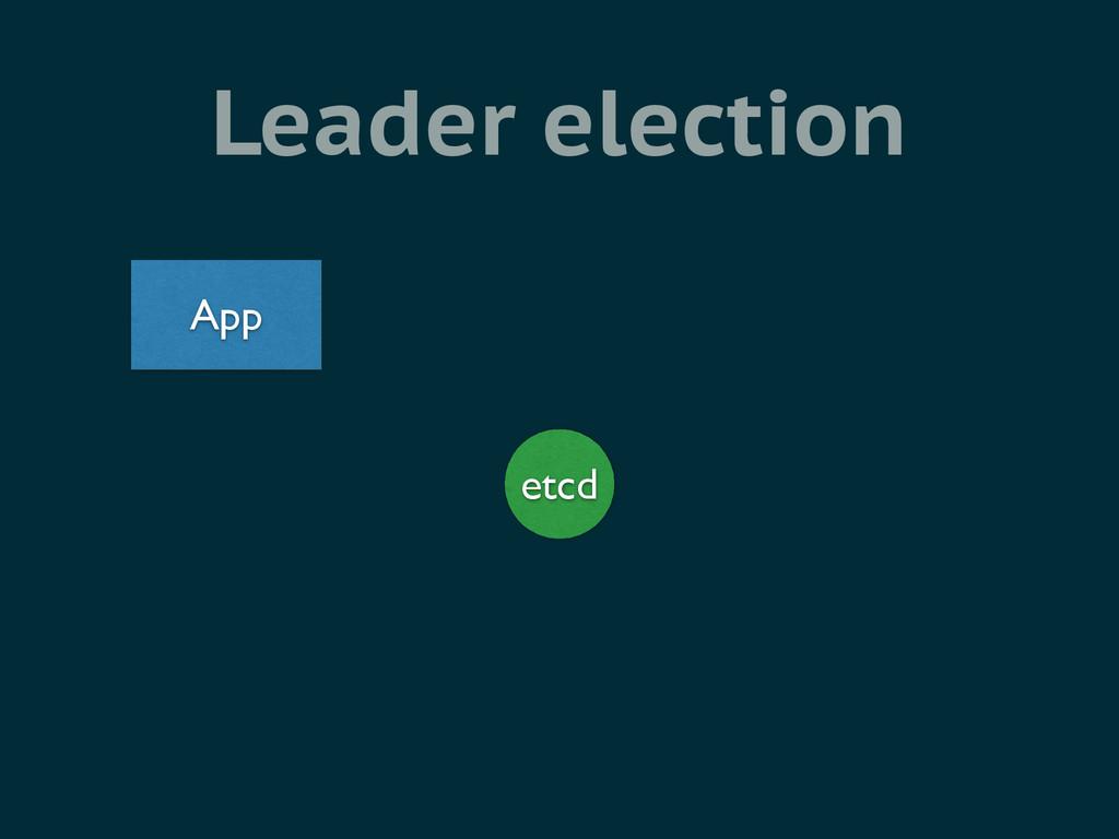 Leader election etcd App
