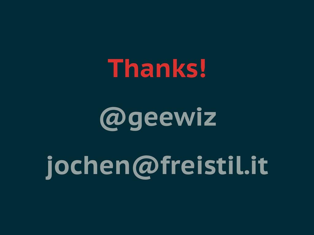 Thanks! @geewiz jochen@freistil.it