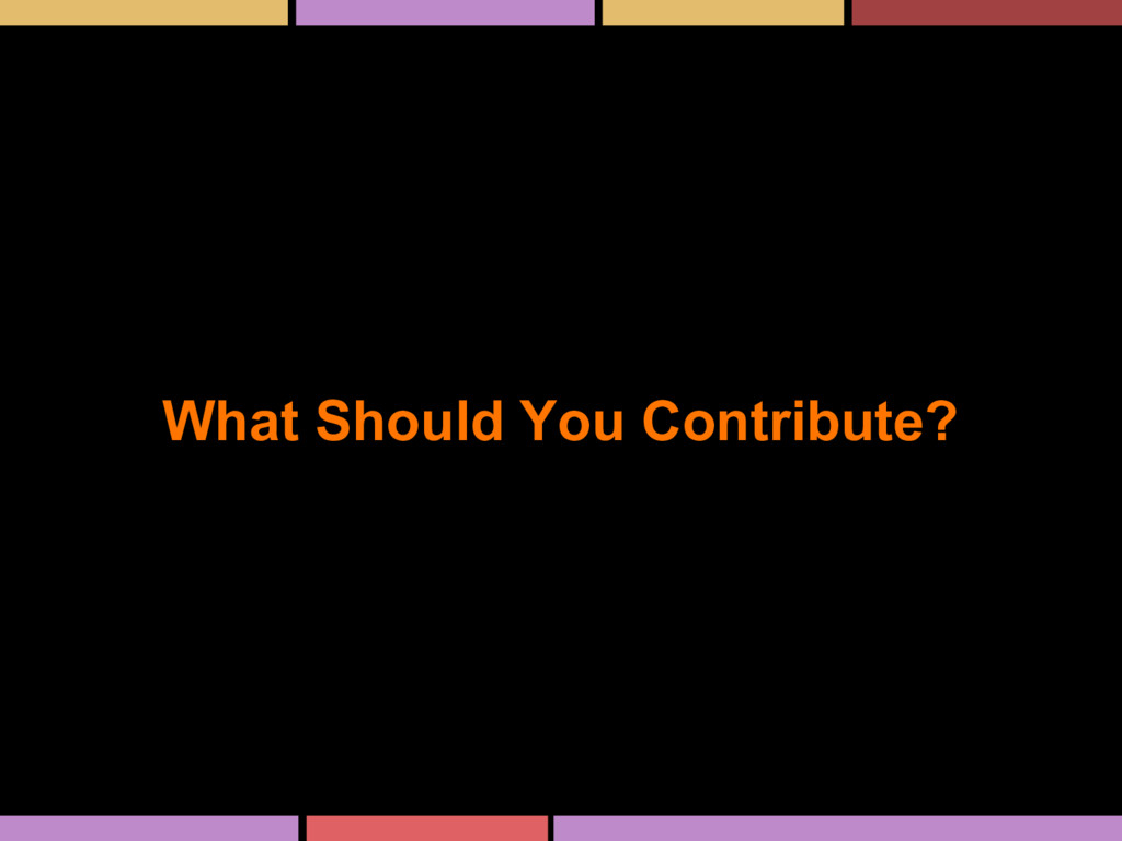 What Should You Contribute?