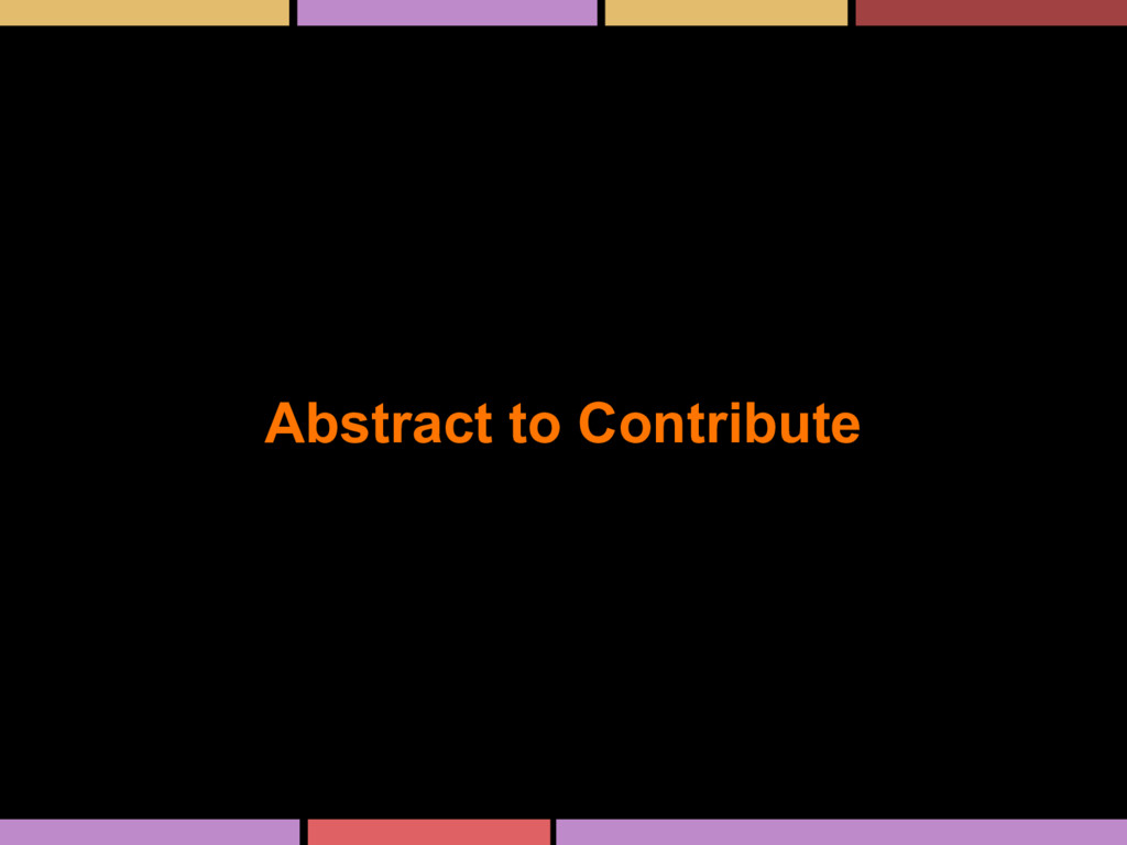 Abstract to Contribute