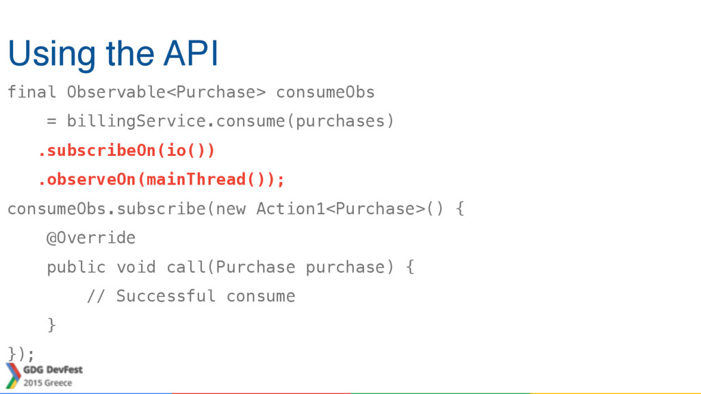 final Observable<Purchase> consumeObs = billing...