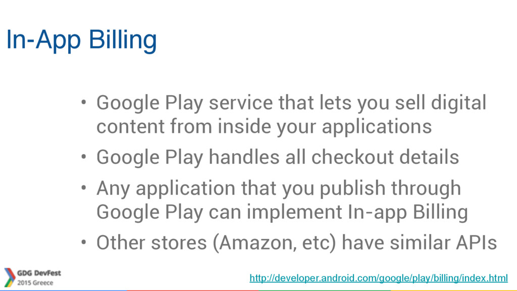 In-App Billing • Google Play service that lets ...