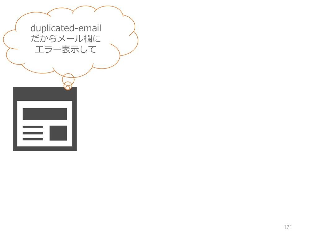 duplicated-email だからメール欄に エラー表示して 171