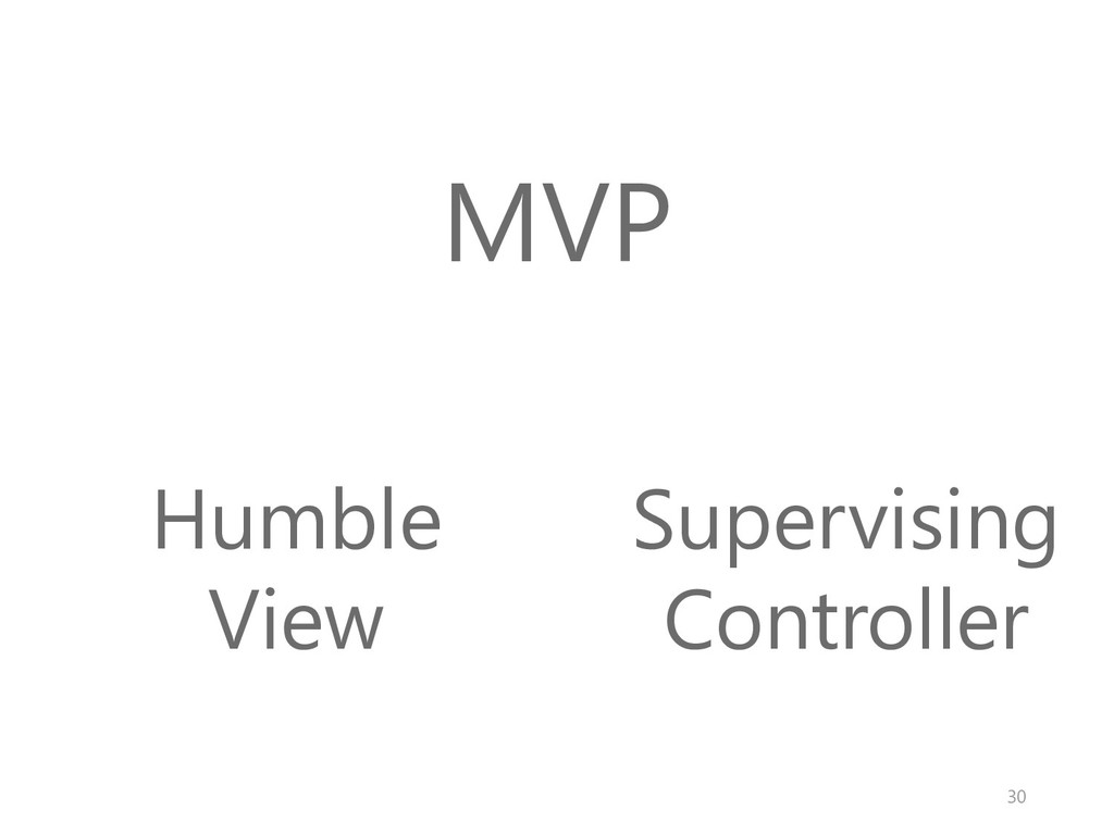 MVP Humble View Supervising Controller 30