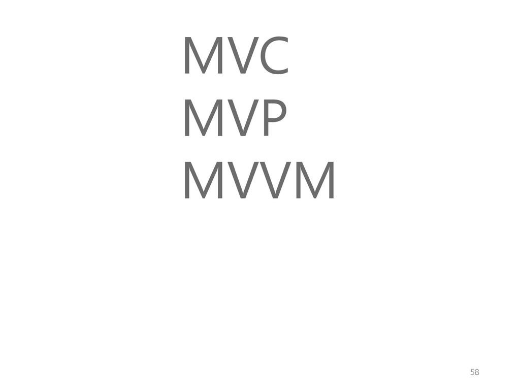 MVC MVP MVVM 58