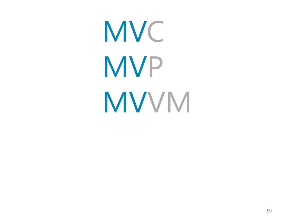 MVC MVP MVVM 59