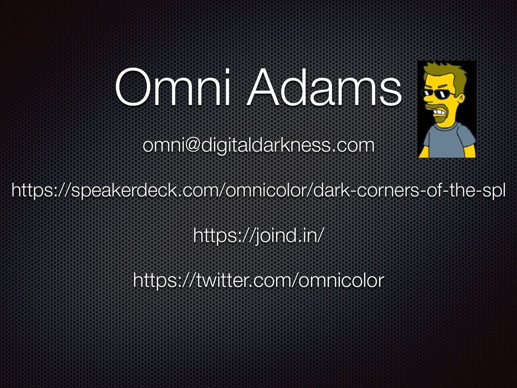 https://speakerdeck.com/omnicolor/dark-corners-...