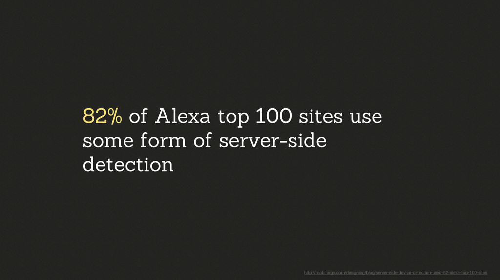 82% of Alexa top 100 sites use some form of ser...