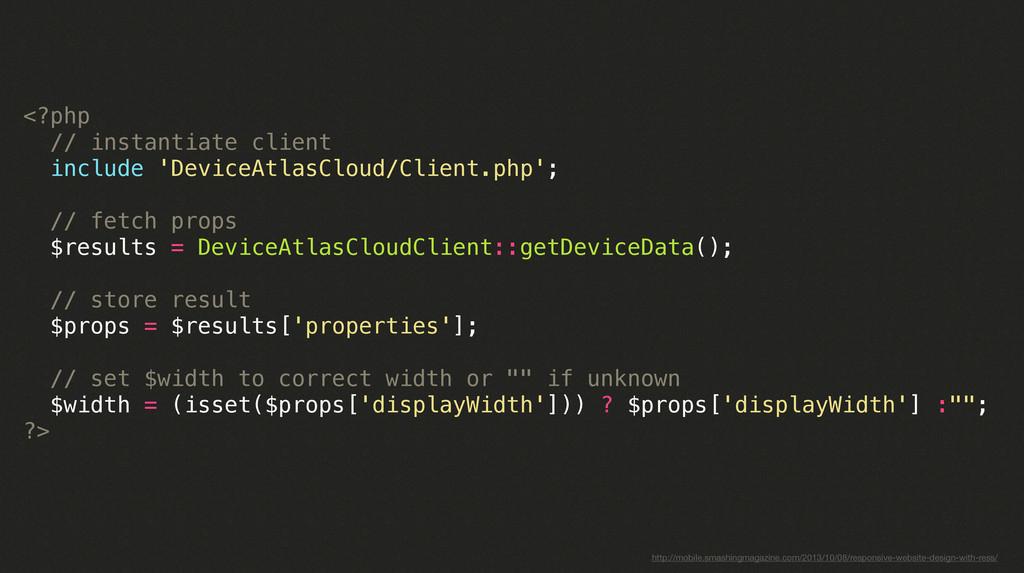 <?php // instantiate client include 'DeviceAtla...