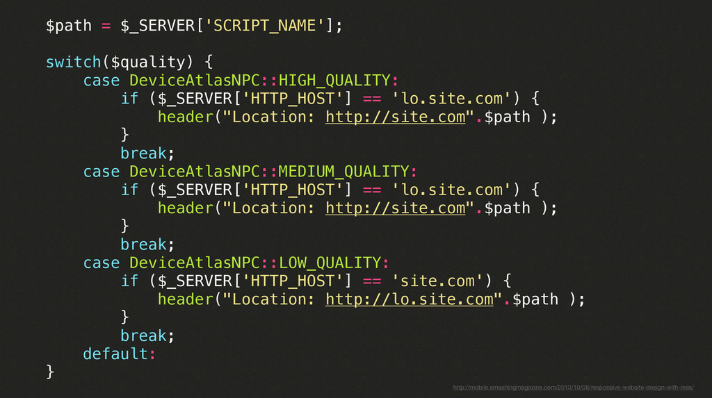 $path = $_SERVER['SCRIPT_NAME']; switch($qualit...