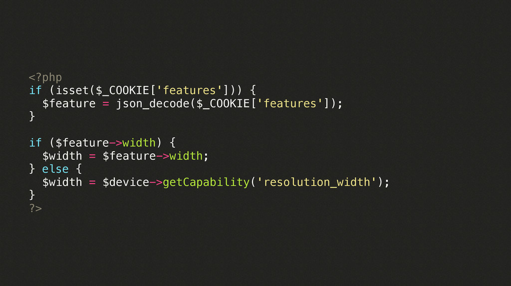 <?php if (isset($_COOKIE['features'])) { ! $fea...