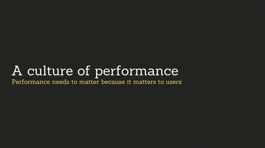 Performance needs to matter because it matters ...