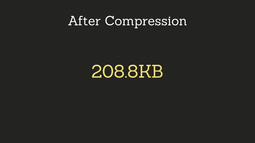 208.8KB After Compression