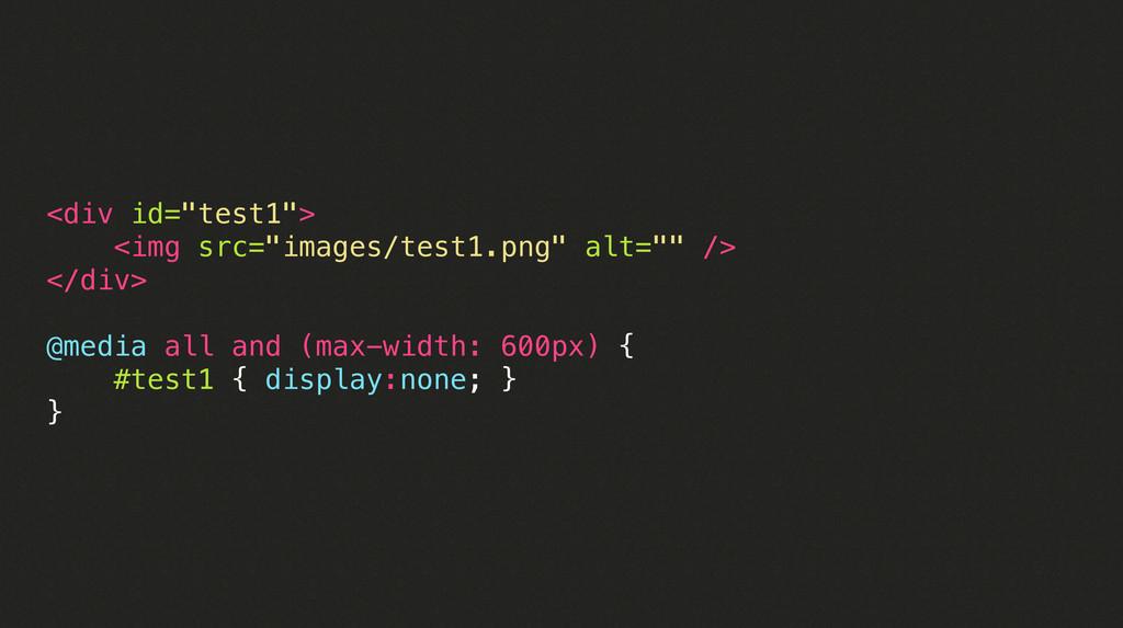 """<div id=""""test1""""> <img src=""""images/test1.png"""" al..."""
