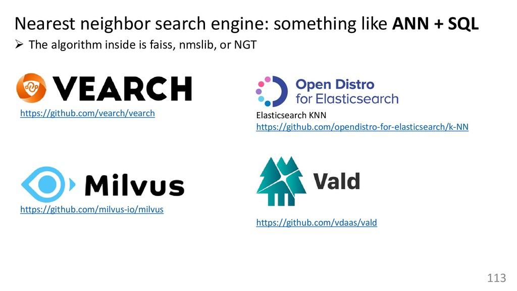 113 Nearest neighbor search engine: something l...