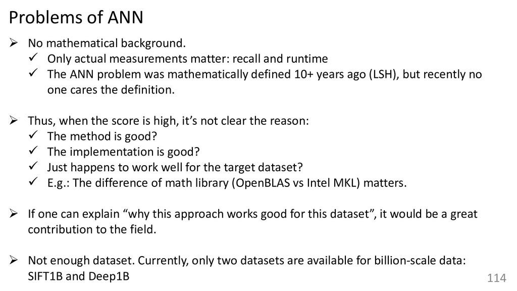 114 Problems of ANN ➢ No mathematical backgroun...