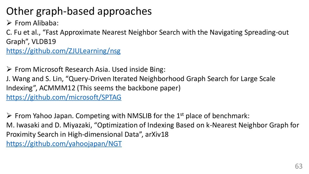 Other graph-based approaches ➢ From Alibaba: C....