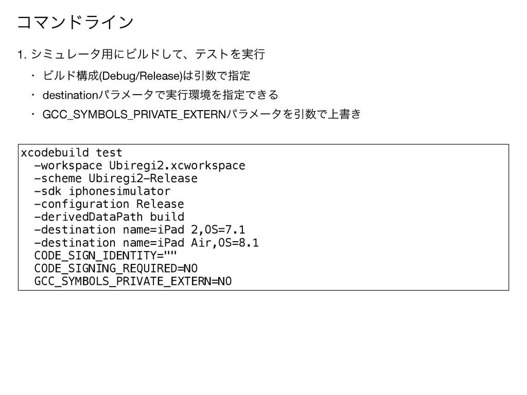 xcodebuild test -workspace Ubiregi2.xcworkspace...