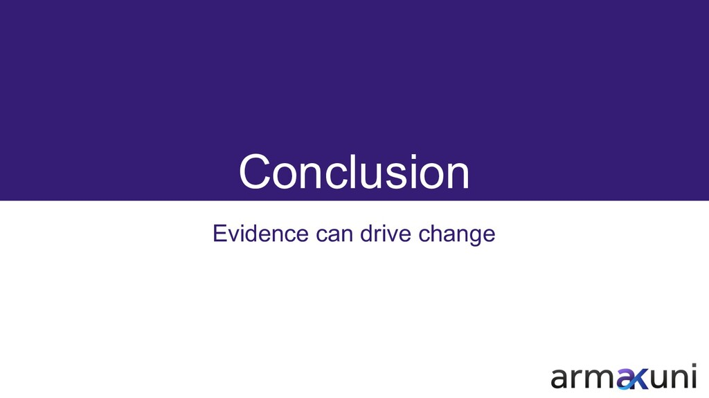 Conclusion Evidence can drive change