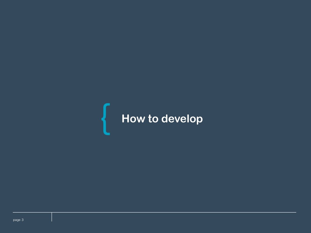 QBHF How to develop \