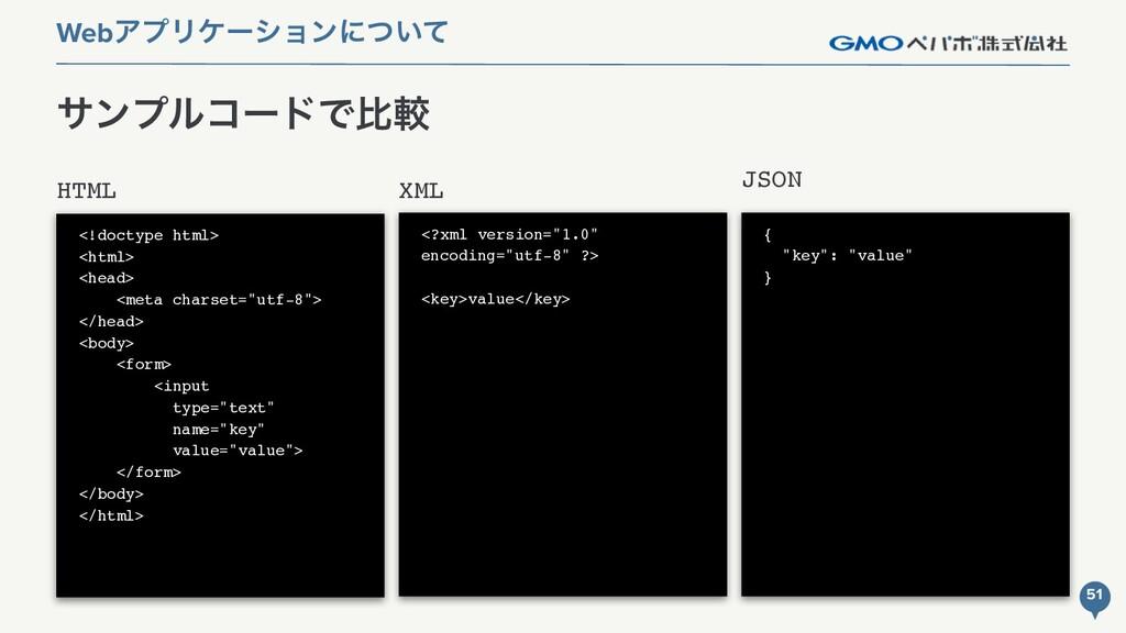 JSON αϯϓϧίʔυͰൺֱ WebΞϓϦέʔγϣϯʹ͍ͭͯ XML HTML <!doct...