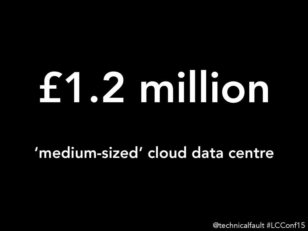 £1.2 million @technicalfault #LCConf15 'medium...