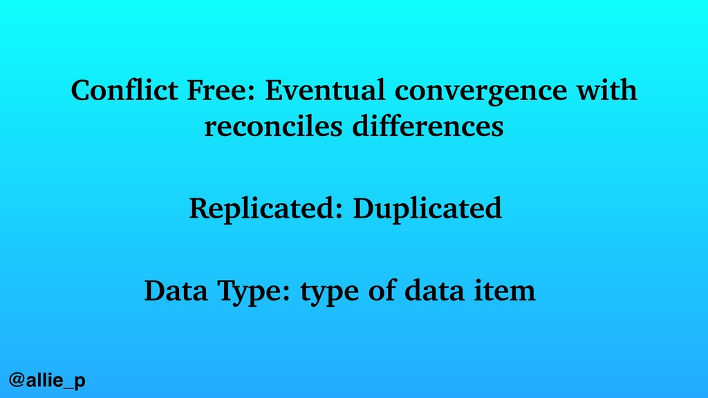 Conflict Free: Eventual convergence with reconc...