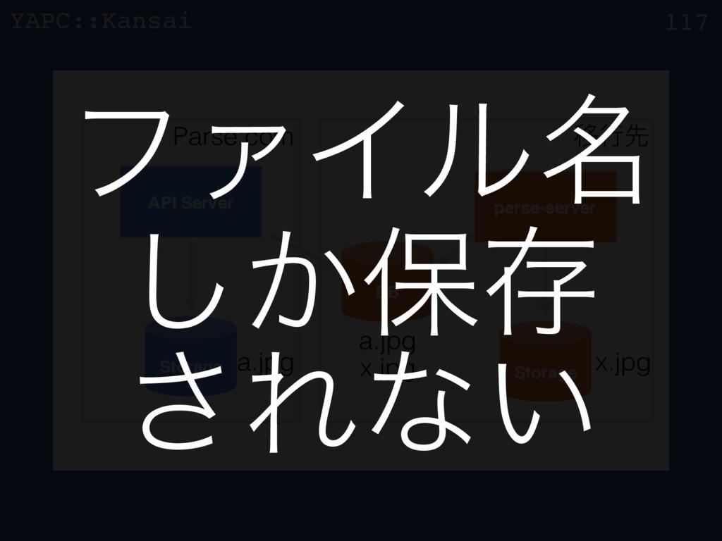YAPC::Kansai z 117 API Server parse-server Stor...